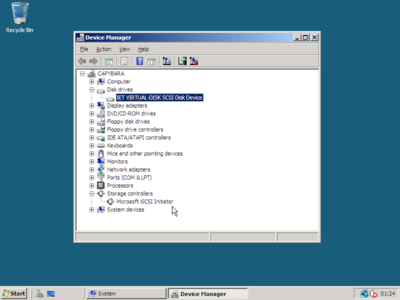 Windows Server 2008 booted via iSCSI